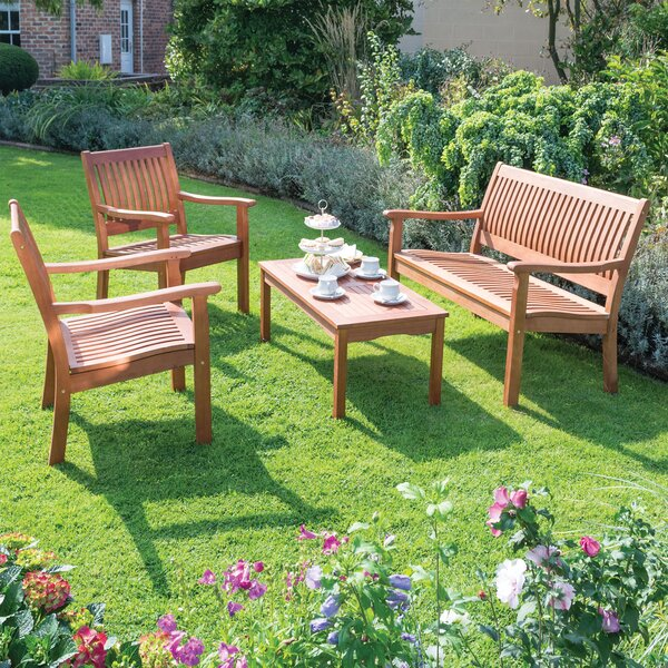 Willington 4 Piece Sofa Seating Group by Rowlinson