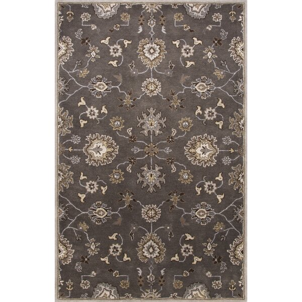 Trinningham Hand-Tufted Wool Gray/Ivory Area Rug by Charlton Home