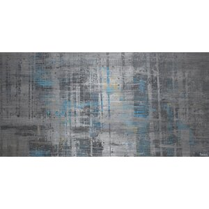 'Hints of Blue' Painting Print on Brushed Aluminum by Parvez Taj