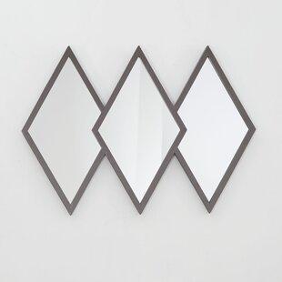 Wrought Studio Dones Diamond Trio Accent Mirror