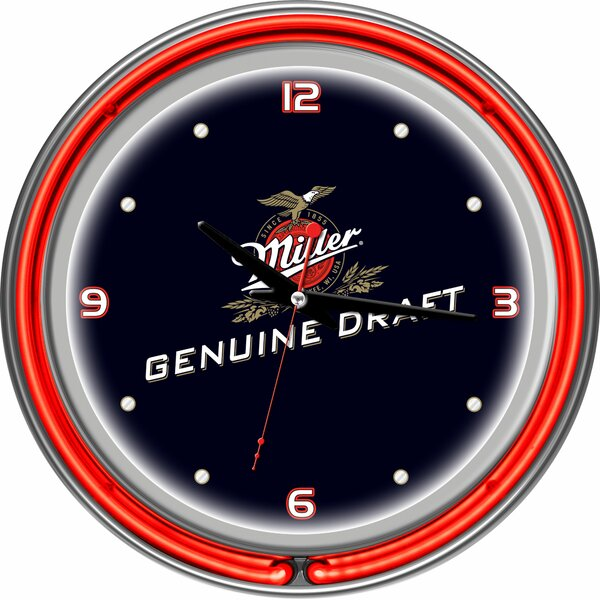 14 Miller Genuine Draft Wall Clock by Trademark Global