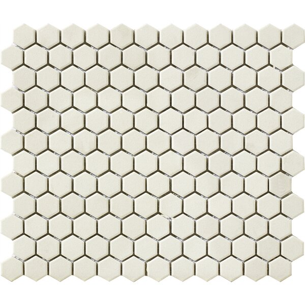 Urban Unglazed 0.75 x 0.75 Porcelain Mosaic Tile in Off-White Hexagon by Walkon Tile