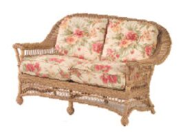 Cottage Loveseat with Cushions by Woodard