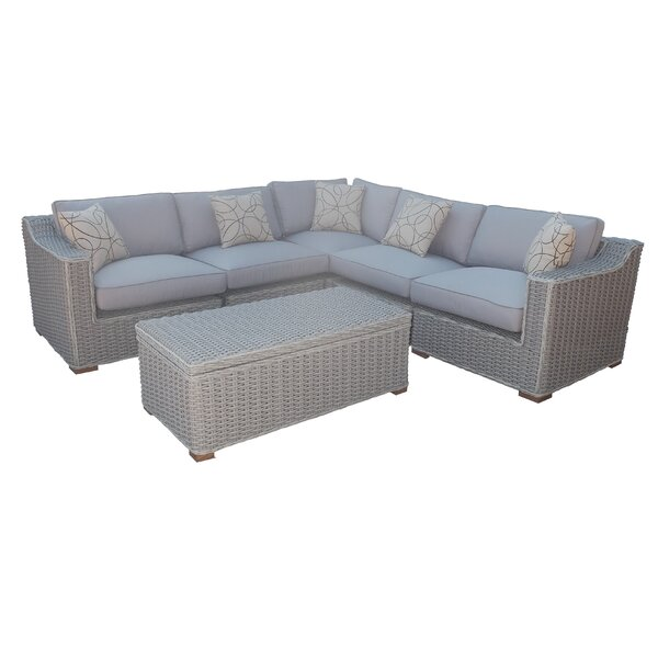 Eastlawn 6 Piece Sectional Set with Cushions by Rosecliff Heights