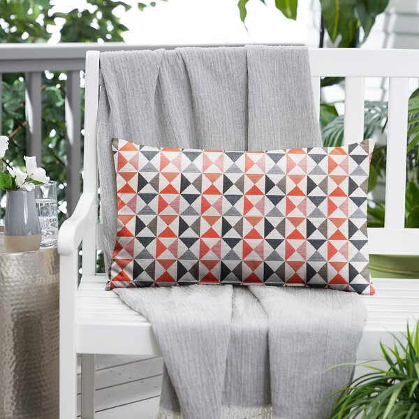 Lake City Sunbrella Indoor / Outdoor Geometric Lumbar Pillow
