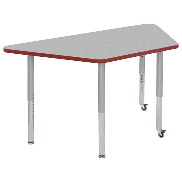Trapezoid Thermo-Fused Contour Adjustable 30 x 60 Trapezoidal Activity Table by ECR4kids