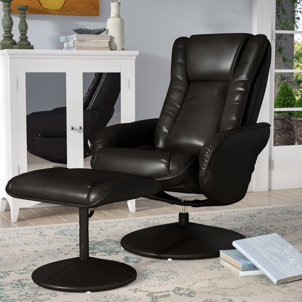 Heated Massage Chair with Ottoman by Alcott Hill