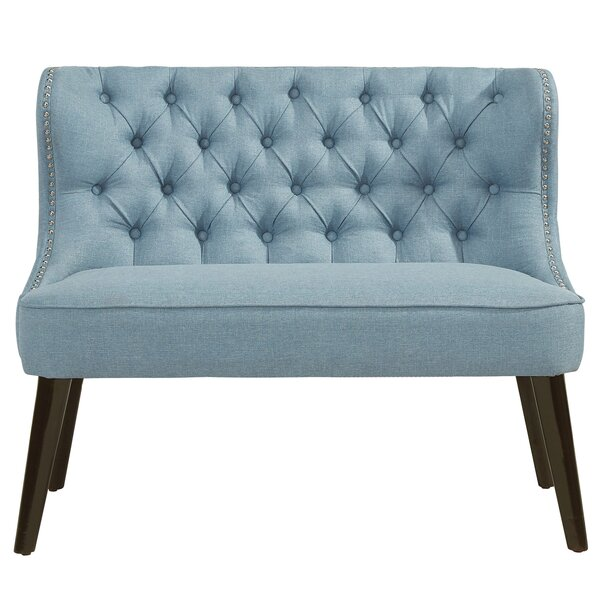 Aguayo Tufted Wing Back Settee Bench by Willa Arlo Interiors
