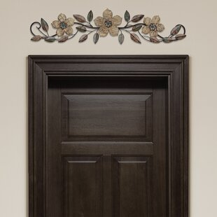 Lovely Floral Patterned Over The Door Wall Décor