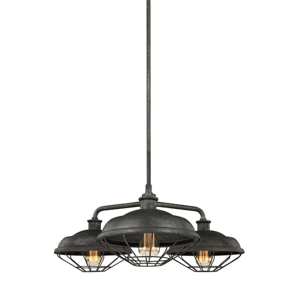 Januario 3-Light Shaded Chandelier by 17 Stories