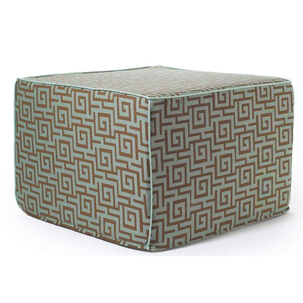 Auciello Outdoor Ottoman in Grey by Bungalow Rose