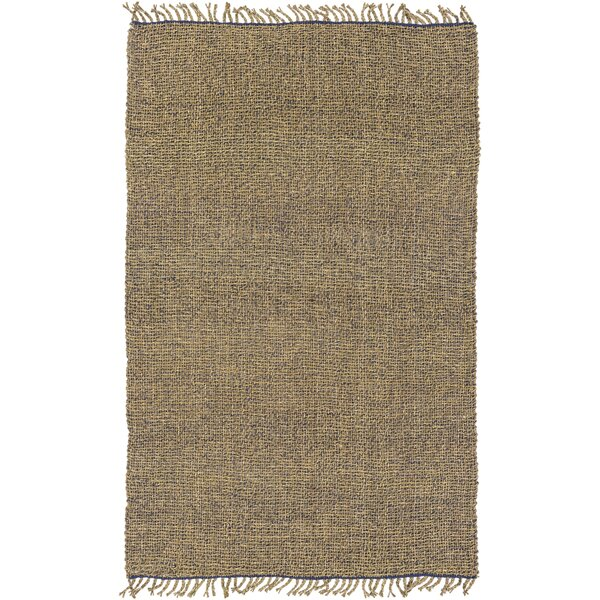 Adelia Hand-Woven Navy/Khaki Area Rug by August Grove
