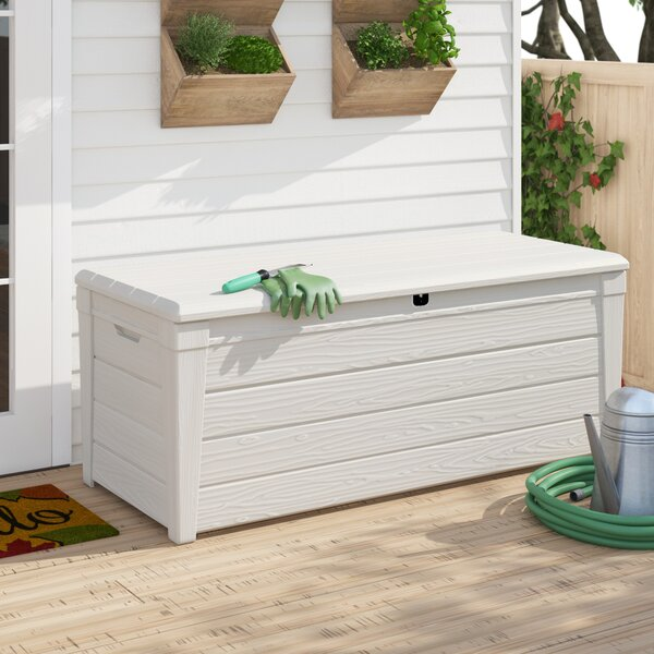 Brightwood 120 Gallon Plastic Deck Box By Keter