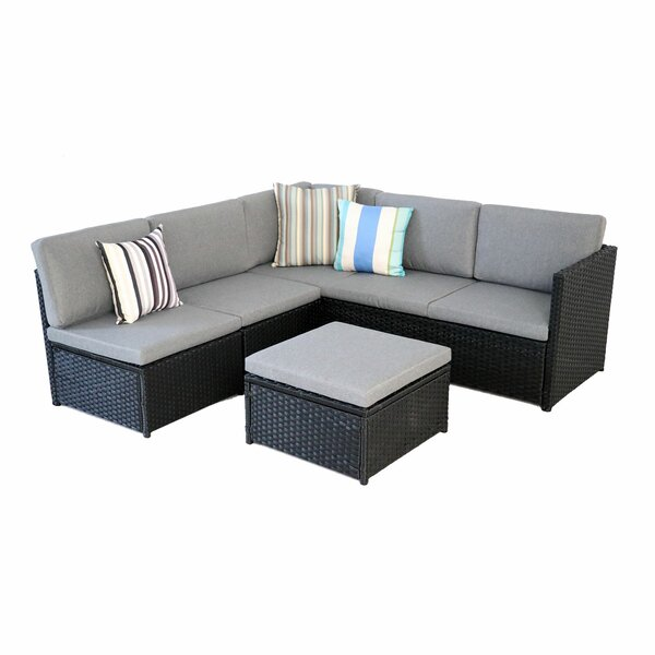 Assija 6 Piece Rattan Sectional Seating Group With Cushions By Latitude Run