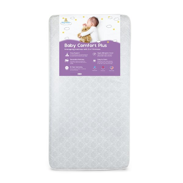 Baby Comfort Plus Orthopedic Extra Firm Foam 6 Crib Mattress by Baby Time International, Inc.