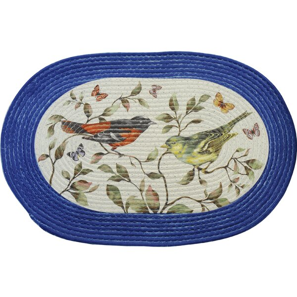 Love Birds White and Blue Area Rug by Achim Importing Co