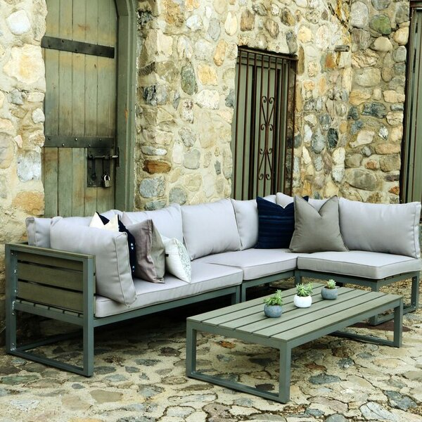 Castleford 4 Piece Sectional Seating Group With Cushions By Brayden Studio