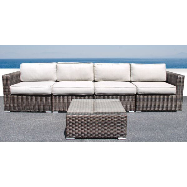 Darvin 5 Piece Sectional Seating Group with Cushions by Sol 72 Outdoor