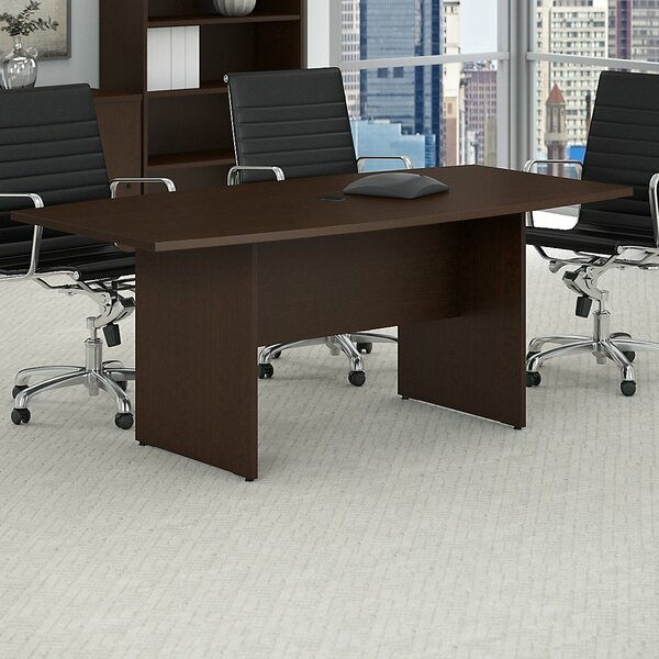 Boat shaped 28.65H x 35.98W x 71.54L Conference Table by Bush Business Furniture
