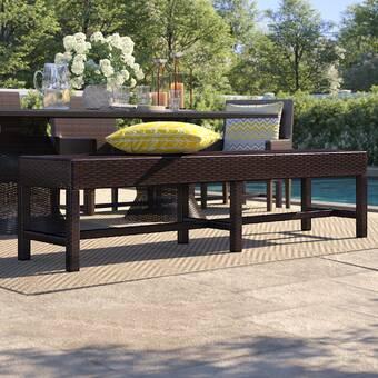 Longshore Tides Tristin Aluminum Picnic Bench Wayfair