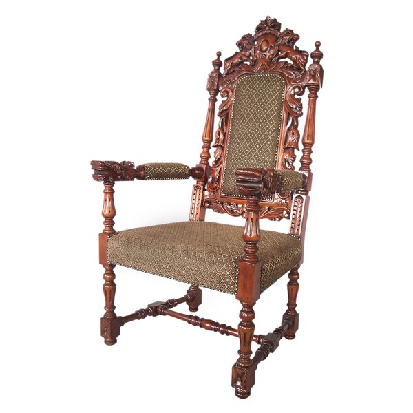 The Grand Heraldic Arm Chair By Design Toscano