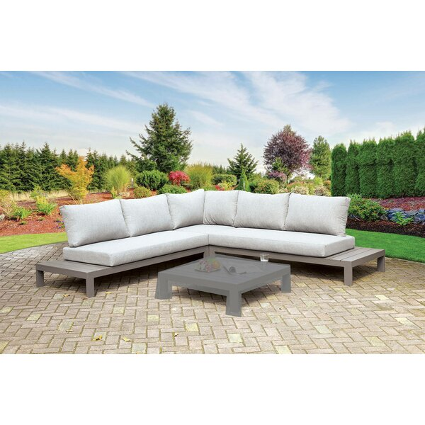 Thacker Harina Patio Sectional with Cushions by Longshore Tides