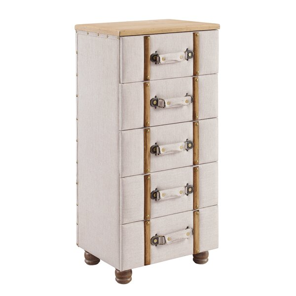 Rowan Padded 5 Drawer Accent Chest By Charlton Home