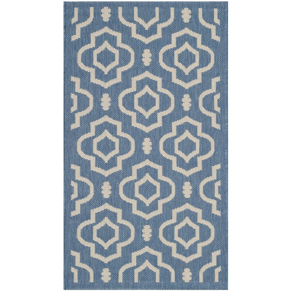 Octavius Blue/Beige Outdoor Area Rug by Charlton Home