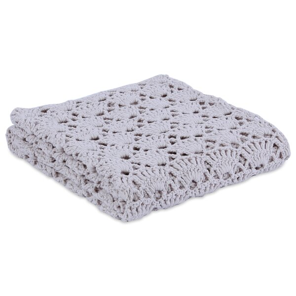 Augustine Handcrafted Crochet Throw by Eider & Ivory