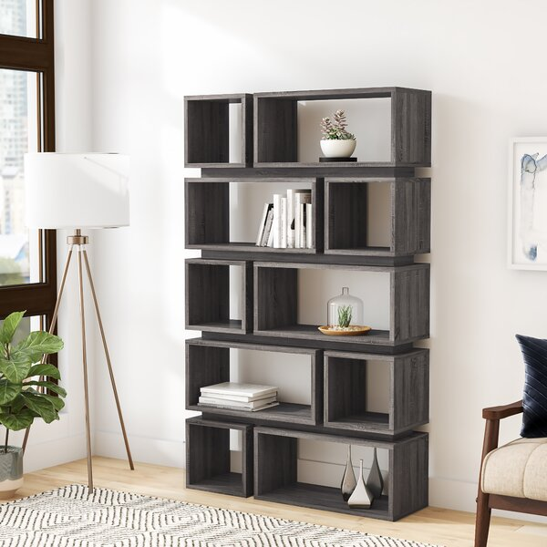 Wilmette Geometric Bookcase By Wrought Studio