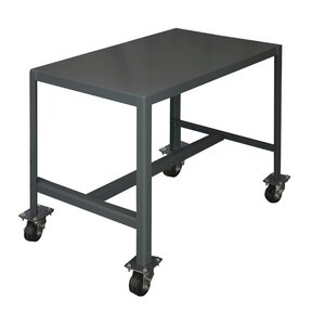 Mobile Medium Duty Steel Top Workbench