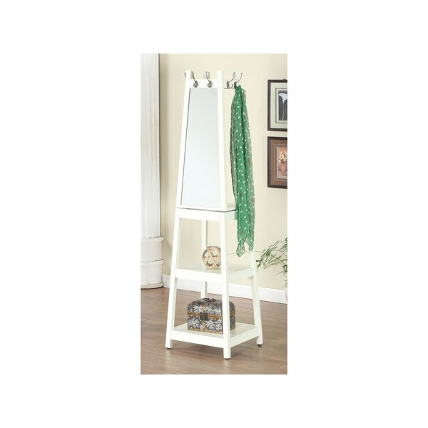 Owings Wooden Swivel Hall Tree with Mirror by Winston Porter