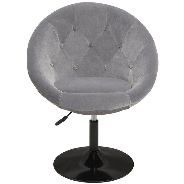 Giunta Vanity Swivel Barrel Chair by Mercer41 Mercer41