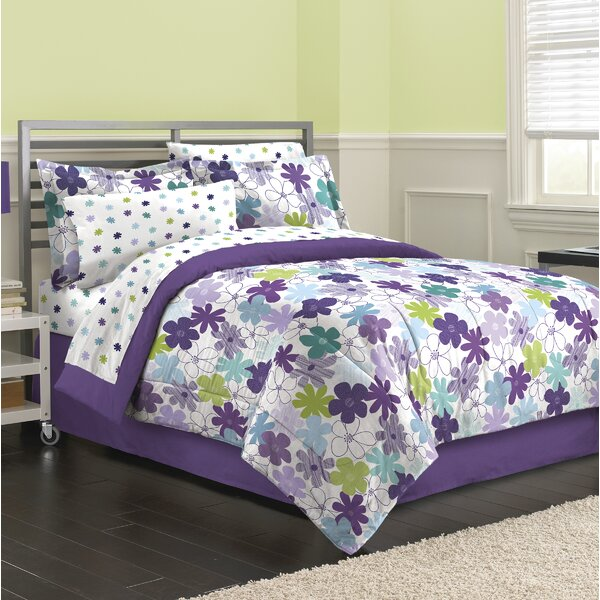 Freemont Graphical Daisy 6 Piece Reversible Comforter Set by Harriet Bee