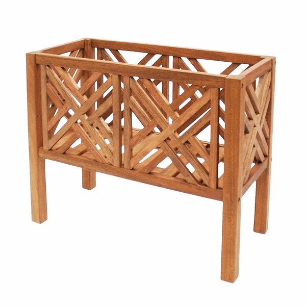 Fretwork Wood Raised Garden by ACHLA