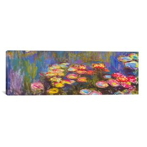 Water Lilies by Claude Monet Painting Print on Canvas by Alcott Hill