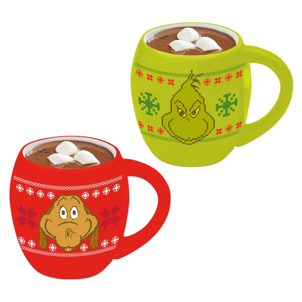 Dr. Seuss Grinchmas Ugly Sweater Salt & Pepper Shaker Set by Vandor LLC