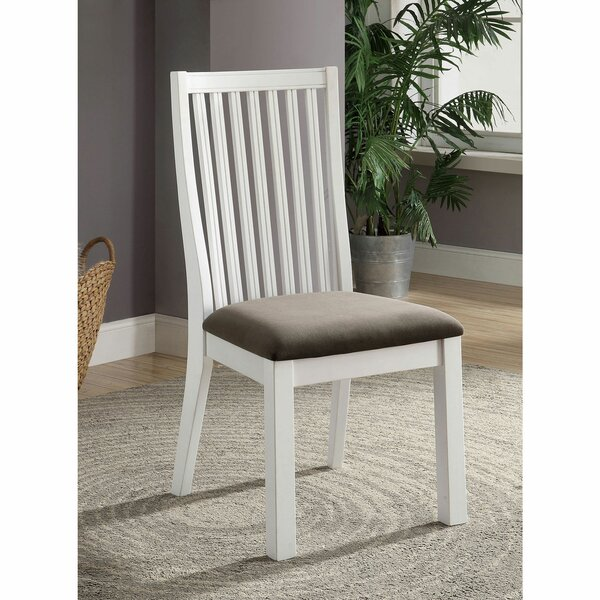 Kowalsky Slat Back Side Chair in Dark Gray (Set of 2) by Highland Dunes Highland Dunes