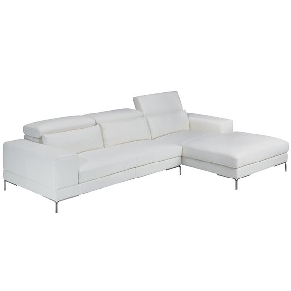 Marlene Leather Sectional by Bellini Modern Living