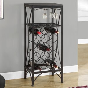 Vickie 15 Bottle Floor Wine Rack by Latitude Run