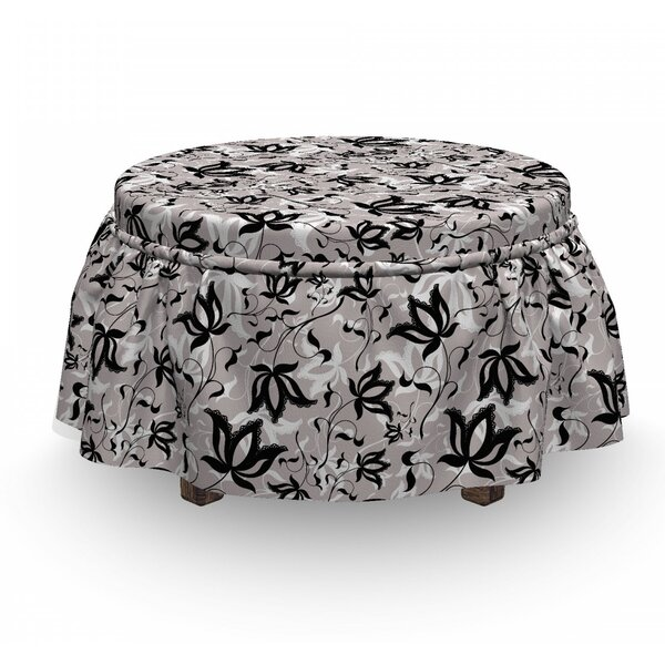 Gothic Rose Petals Ottoman Slipcover (Set Of 2) By East Urban Home