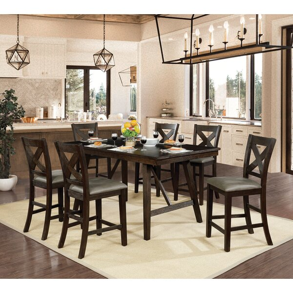 Floodwood 7 Piece Counter Height Dining Set By Gracie Oaks Read Reviews