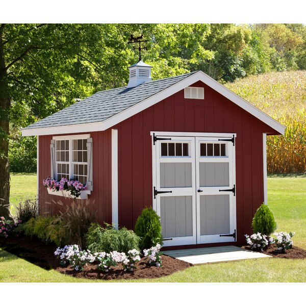 Homestead 10 ft. W x 12 ft. D Wood Storage Shed by EZ-Fit Sheds