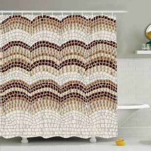 Compare & Buy Vintage Antique Mosaic Shower Curtain Set ByAmbesonne