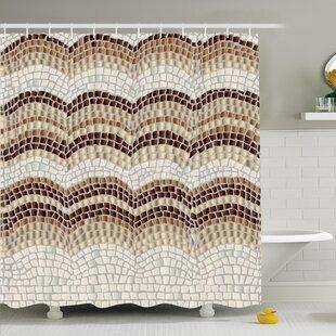 Big Save Vintage Antique Mosaic Shower Curtain Set ByAmbesonne