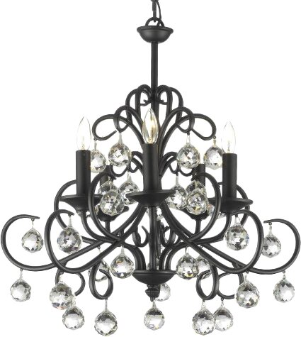 Clemence 5-Light Wrought Iron Base Candle Style Chandelier by Rosdorf Park
