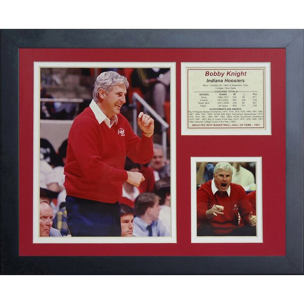 Bob Knight Indiana Hoosiers Framed Photographic Print by Legends Never Die