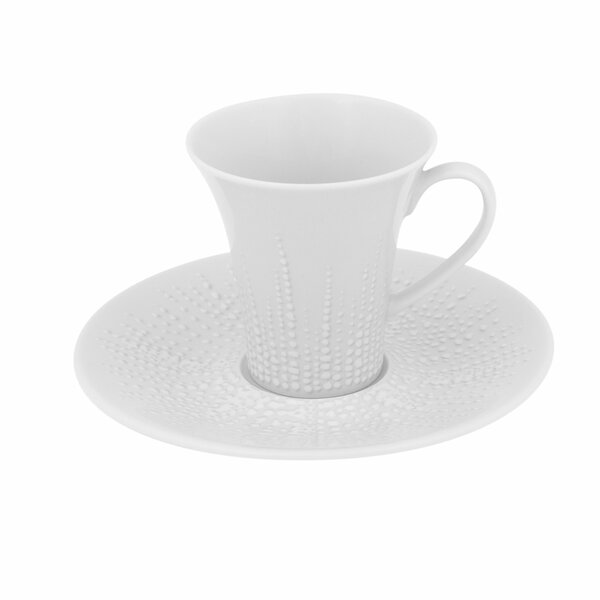 Mar Coffee Cup and Saucer (Set of 4) by Vista Alegre