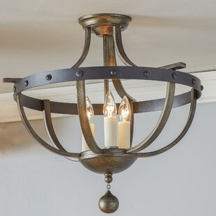 semi flush mount ceiling lights you ll love wayfair