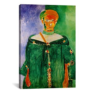 'Moroccan in Green (1913)' by Henri Matisse Painting Print on Canvas by iCanvas